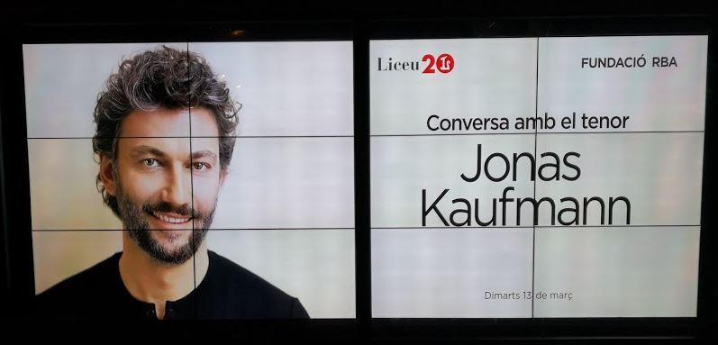 Jonas Kaufmann en la Fundación RBA